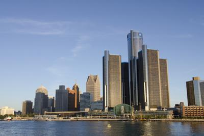 Sunrise over Downtown Detroit, Michigan, USA by Cindy Miller Hopkins