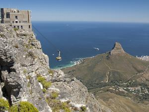 Table Mountain National Park Cableway Aerial Tram and Station, Cape Town, South Africa by Cindy Miller Hopkins