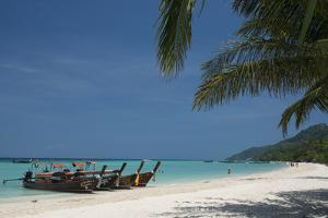 Thailand, Phuket, Island of Phi Phi Don. Traditional Longboat by Cindy Miller Hopkins