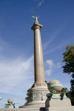 Trophy Point, Battle Monument, West Point Academy, New York, USA by Cindy Miller Hopkins