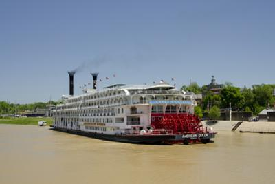 USA, Mississippi, Vicksburg. American Queen cruise paddlewheel boat. by Cindy Miller Hopkins