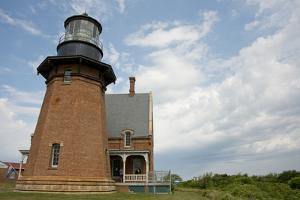USA, Rhode Island, Block Island, Mohegan Bluffs, Southeast Lighthouse. by Cindy Miller Hopkins