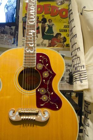 USA, Tennessee, Nashville. Western singer Eddy Arnold's guitar. by Cindy Miller Hopkins