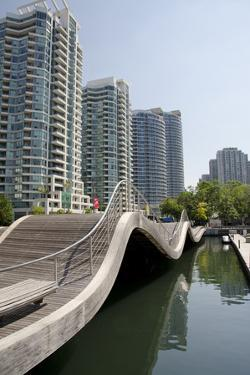 Waterfront Marina, Wave Deck, Lake View Apartments, Toronto, Ontario, Canada by Cindy Miller Hopkins