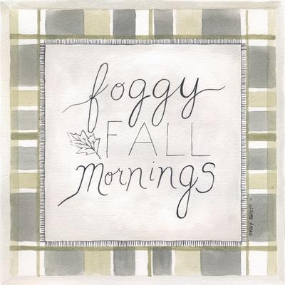 Foggy Fall Mornings