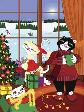 Christmas Cats Theme Christmas Decorations V2 by Cindy Wider