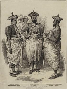 Cinghalese Chiefs Waiting for the Prince of Wales at Kandy, Ceylon