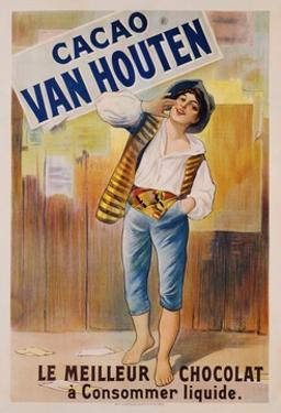 Circa 1900 French Poster for Cacao Van Houten