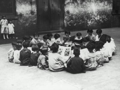 Circle of Children Reading