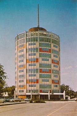 Circular Mid-Century Building