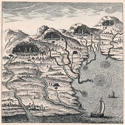Circulation of Water Between Sea and Mountains, 1665