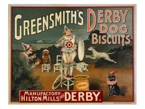 Circus Dogs Advertising 'Greensmiths Derby' Dog Biscuits