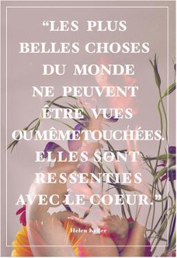 Citation d'Hélène Keller