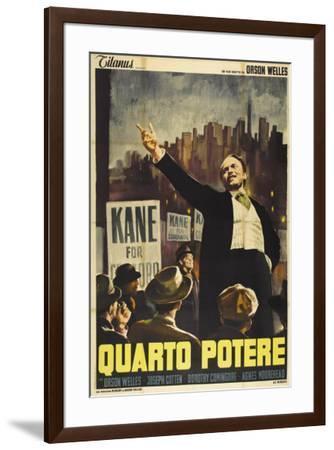 Citizen Kane - Italian Style--Framed Poster