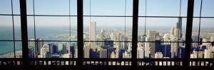 City as Seen through a Window, Chicago, Illinois, USA