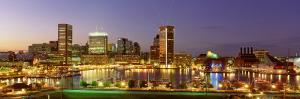 City at Night Viewed from Federal Hill Park, Baltimore, Maryland, USA
