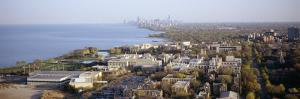 City at the Coast with Chicago in the Background, Evanston, Illinois, USA