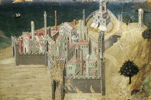 City by Sea, by Ambrogio Lorenzetti (1290-Ca 1348) Tempera and Gold on Wood, 22.5X33.5 Cm