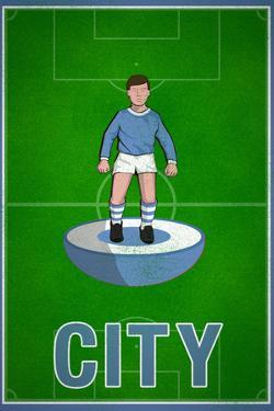 City Football Soccer Sports Plastic Sign