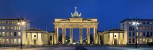 City Gate Lit Up at Night, Brandenburg Gate, Pariser Platz, Berlin, Germany