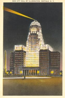 City Hall at Night, Buffalo