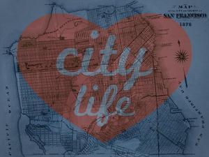 City Life - 1876, San Francisco 1876, California, United States Map