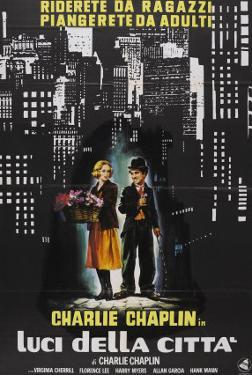 City Lights, Italian Movie Poster, 1931