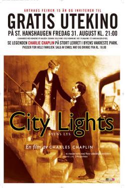 City Lights, Norwegian Movie Poster, 1931
