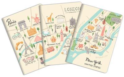 City Maps Notebook Trio