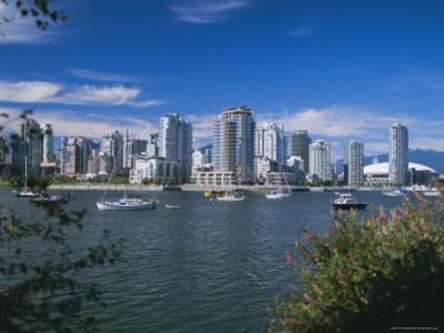 City Skyline from False Creek, Vancouver, British Columbia (B.C.), Canada, North America
