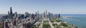 City Skyline from South End of Grant Park, Chicago, Lake Michigan, Cook County, Illinois 2009