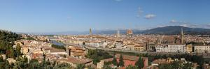 City Viewed from Piazzale Michelangelo, Giardino Vegni, Florence, Tuscany, Italy