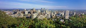 Cityscape of Parc Mont Royal, Montreal, Quebec, Canada