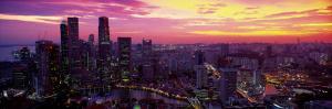 Cityscape, Sunset, Singapore