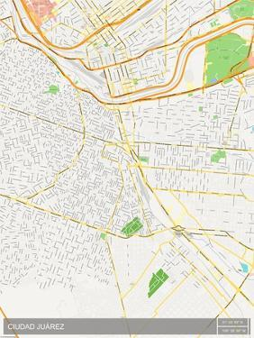Ciudad Juarez, Mexico Map