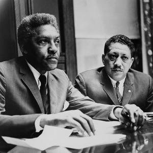 Civil Rights Leaders Bayard Rustin and Dr. Eugene Reed at Freedom House 1964