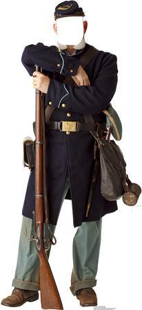 Civil War Union Soldier Stand In