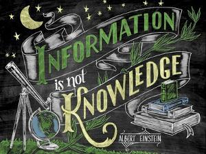 Information Is Not Knowledge by CJ Hughes
