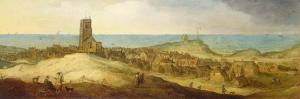 A View of Egmond Abbey by Claes Jacobsz. van der Heck