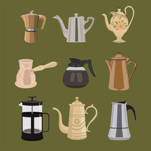 Coffee Pots by Claire Huntley