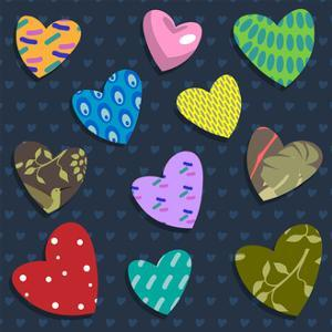 Love Hearts by Claire Huntley