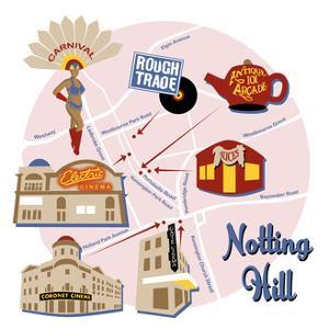 Map of Notting Hill by Claire Huntley