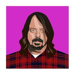 Portait of Dave Grohl by Claire Huntley