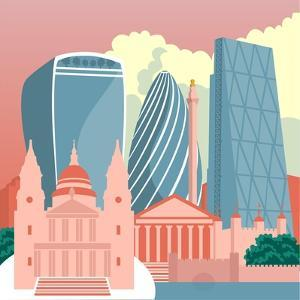 Square Mile Cityscape by Claire Huntley