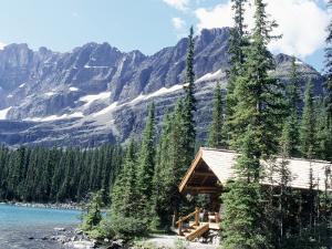 Cabin Near Lake O'Hara, Banff National Park, Alberta, Canada by Claire Rydell