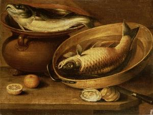 Still Life of Fish and Lemons by Clara Peeters