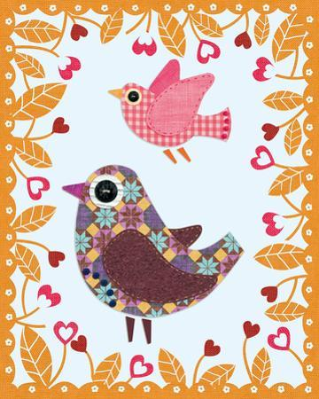 Folksy Friends IV by Clara Wells