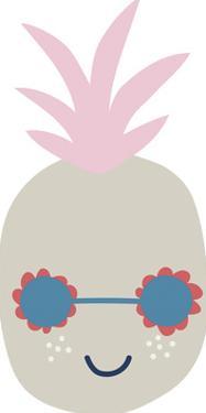 Happy Pineapple by Clara Wells