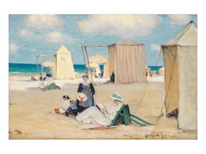 Beach at Dinard by Clarence Alphonse Gagnon