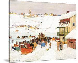 Horse Race in Winter by Clarence Alphonse Gagnon